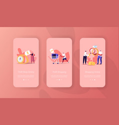 Pawn or thrift shop mobile app page onboard screen vector