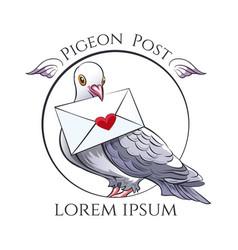 Pigeon post emblem vector