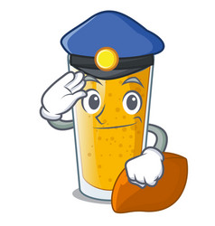 Police lassi mango in a cartoon glass vector