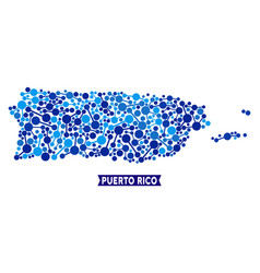 Puerto rico map connections composition vector