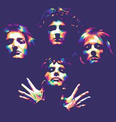 Queen band bohemian rhapsody vector