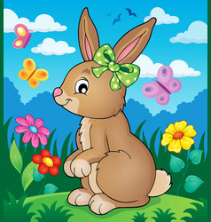 Rabbit topic image 3 vector