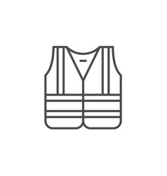 Reflective jacket line outline icon vector