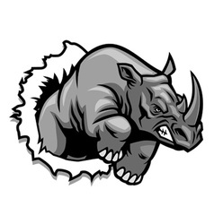 Rhino ripping vector