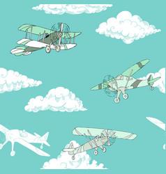 Seaml colors airplanes-08 vector