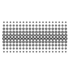 Searchlight shape halftone pattern vector