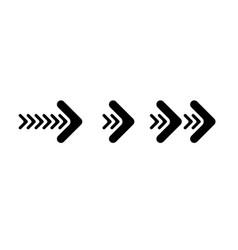 set black arrows isolated on white arrow vector image