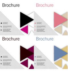 Set brochure template design with arrows vector