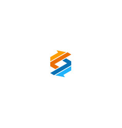 shape line colored arrow business logo vector image