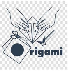 silhouette classes origami vector image