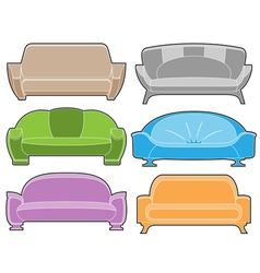 Sofa set vector