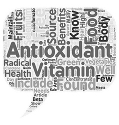 Sources Of Concentrated Antioxidants text vector image