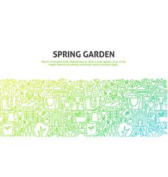 spring garden concept vector image
