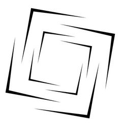 square frame - border element isolated on white vector image