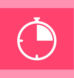 Stopwatch icon in flat style vector