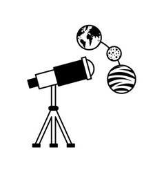 Telescope observing the universe vector
