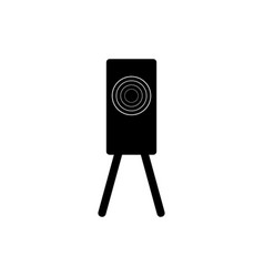 Training target shooting icon vector