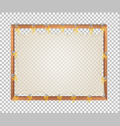 Transparent blank wooden board vector
