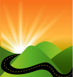 travel landscape sunset view vector image