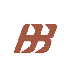 two letters b sign vector image