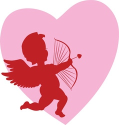 Valentine cupid vector