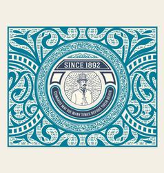 vintage label western style vector image