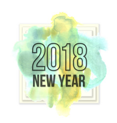 watercolor new year 2018 vector image