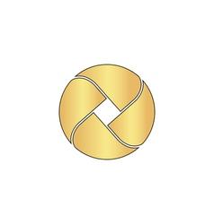 Wave circle computer symbol vector image