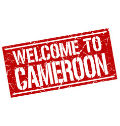 Welcome to cameroon stamp vector