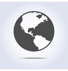 World globe icon gray color vector image