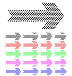arrow from a pattern with hatches vector image vector image