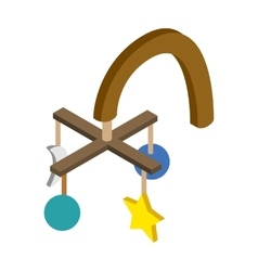 Baby hanging isometric 3d icon vector image