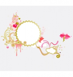 funky frame vector image vector image