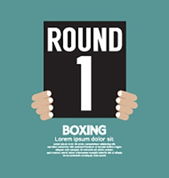 Hand Show Boxing Ring Board vector image vector image