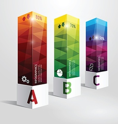 infographic template Modern box Design vector image vector image