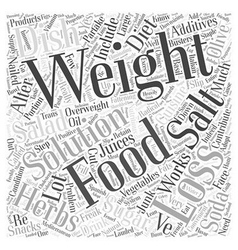 weight loss solutions Word Cloud Concept vector image vector image