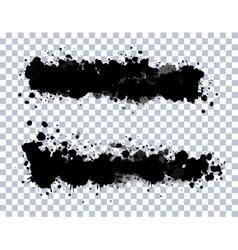 Transparent blots set vector