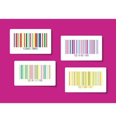 Colorful barcode stickers vector image vector image