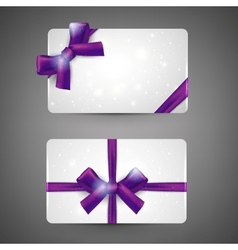Gift cards with bows vector image vector image