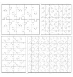 Puzzle set 20 24 49 120 pieces vector image vector image
