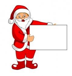 santa claus with blank paper vector image