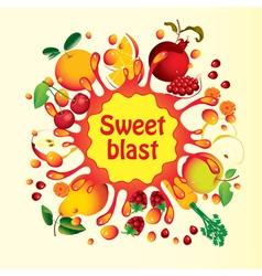sweet blast vector image vector image
