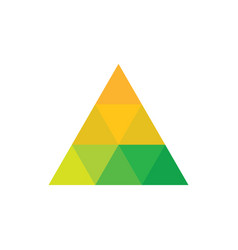 triangle colored logo image vector image