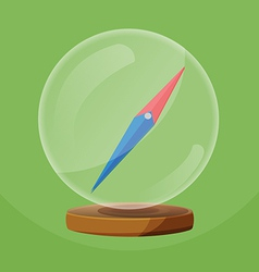 Compass Glass Round Object Navigator vector image