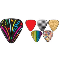 Guitar Pick Collection vector image