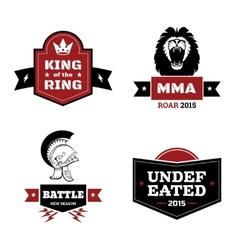 Martial arts logo set vector image vector image