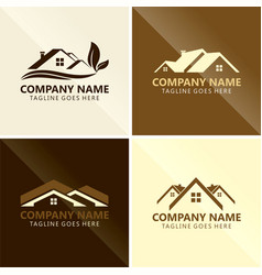 roof house triangle abstract logo vector image vector image