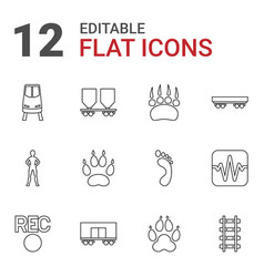 12 track icons vector image