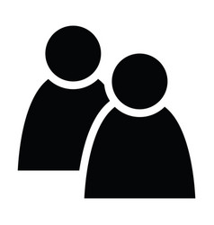 2 people tandem icon group persons simplified vector