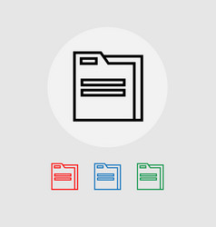 A set of folder icons vector